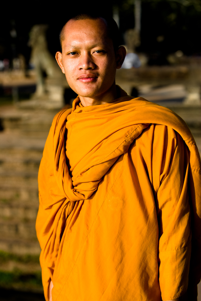 A young monk.