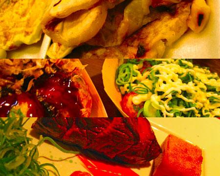 いか焼き・たこ焼き・京料理
